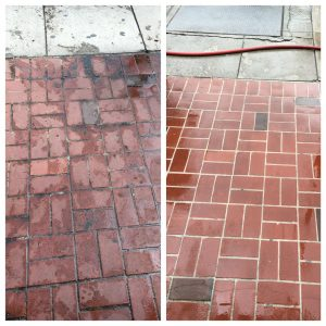 Zs Window Cleaning Serving Riverside - Corona - Pressure washing red brick